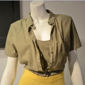 Olive Pure Cotton Mixie Top